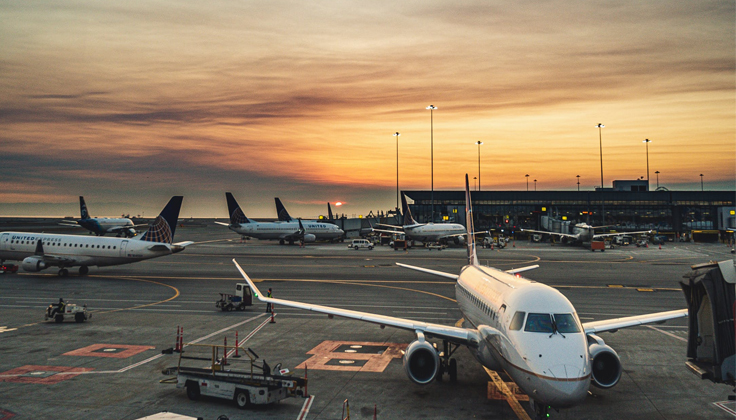flights at the airport