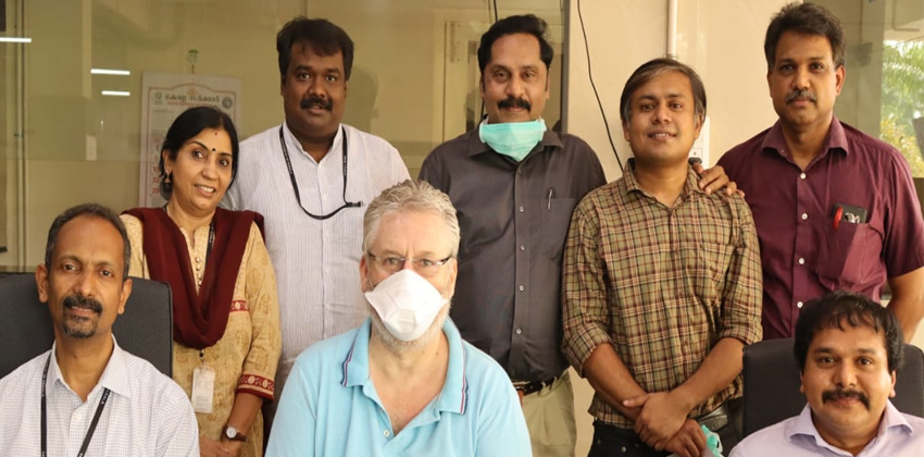 Government Medical college Ernakulam staff with british tourist