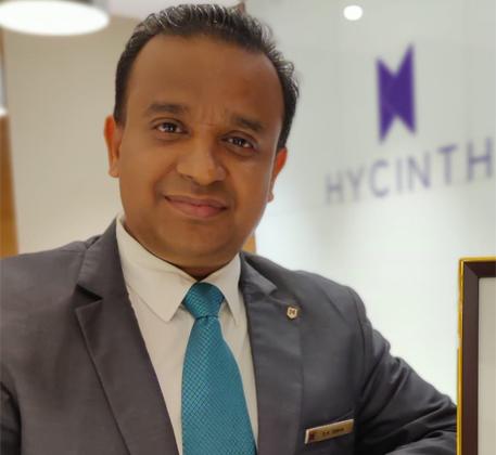 S K Sinha Hycinth Hotels GM