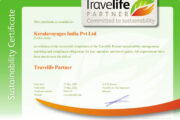 Travelife Certified sustainability award for Kerala Voyages India Pvt Ltd