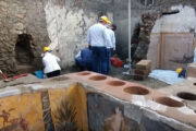 At Pompeii archaeologists uncover ancient street food shop
