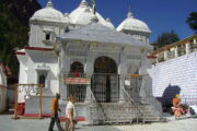 The Gangotri Temple is open, but not accessible to pilgrims