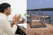 Union Minister Mansukh Mandaviya inaugurates  floating jetty at Old Goa